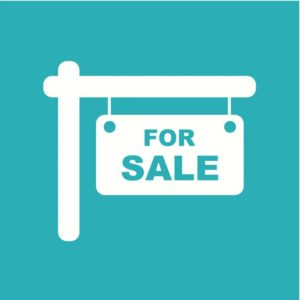For Sale sign for buying or selling